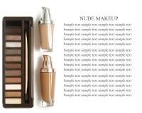 Herramientas y accesorios del maquillaje Sombreadores de ojos de la frente, fundación de la piel del naturel para la cara limpia  Imágenes de archivo libres de regalías