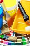 Herramientas y accesorios para la renovación casera Imagen de archivo