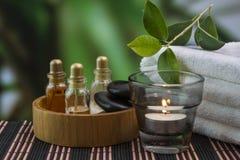 Herramientas y accesorios para los tratamientos del balneario Imagen de archivo libre de regalías
