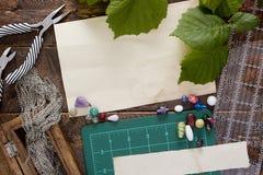 Herramientas y artículos para la joyería Imagen de archivo libre de regalías