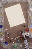 Herramientas y artículos para la joyería Foto de archivo libre de regalías