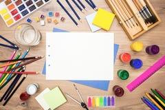 Herramientas y efectos de escritorio de dibujo Imagen de archivo