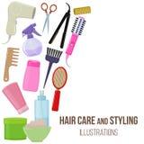 Herramientas y productos del cuidado del cabello