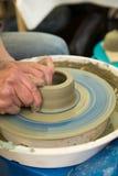 Herramientas y rueda del arte de los alfareros Imagen de archivo
