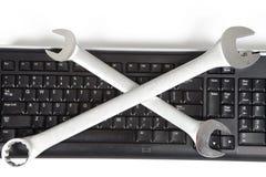 Herramientas y teclado Imágenes de archivo libres de regalías