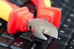 Herramientas y teclado Fotografía de archivo libre de regalías