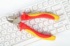 Herramientas y teclado Foto de archivo libre de regalías