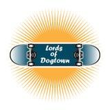 Herrar av Dogtown skateboardstil vektor illustrationer