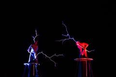 Herrar av för spänningselektricitet för blixt den höga showen Royaltyfri Foto