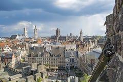 Herre gammal stad i Belgien Royaltyfri Bild