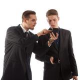 Herren mit Telefonen Lizenzfreies Stockbild