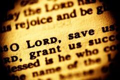 Herren sparar oss Arkivfoton