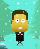Herrenbekleidungsanzüge im kalten Schnee, bis er Schauer schaut vektor abbildung