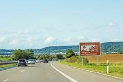 Herrenberg, sign, Autobahn, Germany Royalty Free Stock Image