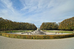 Herrenchiemsee castle garden with fountain Royalty Free Stock Photo