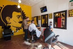 Herrenfriseur Barber Decor Stockbilder