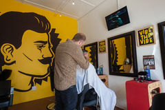 Herrenfriseur Barber Men Lizenzfreie Stockbilder
