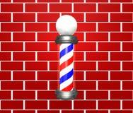 Herrenfriseur Pole Stockbild