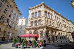 Herrengasse en el centro de Viena, Austria Imagen de archivo