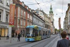 Herrengasse street in Graz, Austria stock photos