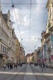Herrengasse street in Graz, Austria stock photo
