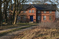 Herrenhaus listete als Monument in Jager nahe Greifswald, Mecklenburg-Vorpommern, Deutschland auf Lizenzfreies Stockbild