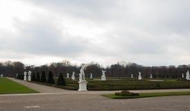 Herrenhausen gardens front view clouds winter royalty free stock photo