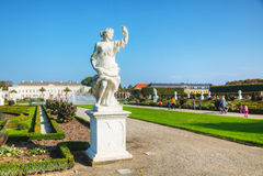 The Herrenhausen Gardens in Hanover, Germany Stock Image