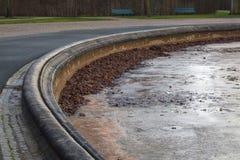 Herrenhausen garden water fountain abandoned winter royalty free stock photography