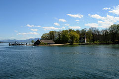 Herreninsel, lac Chiemsee Photo stock