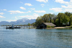 Herreninsel, lac Chiemsee Image libre de droits