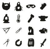 Herrero Icons Freehand Fill Fotografía de archivo