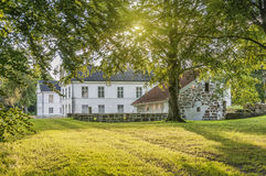 Herrevads Kloster with Sunflare Stock Image