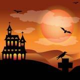 Herrgård halloween Arkivfoton