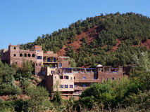 Herrgård i den Ourika dalen Arkivfoto