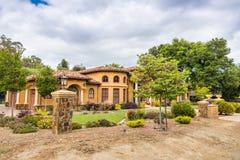 Herrgård i södra San Francisco Bay område, Kalifornien royaltyfri bild