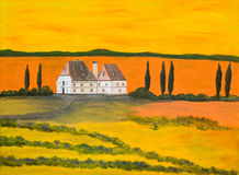 herrgård tuscany Arkivbilder