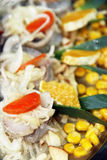 Herring. Marinated in vinegar garnished with vegetables Royalty Free Stock Images