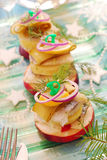 Herring appetizer with potato and apple Royalty Free Stock Image
