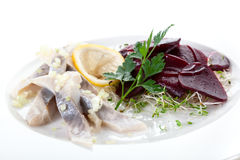 Herring and beet appetizer Royalty Free Stock Photography
