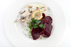 Herring beets salad Stock Images