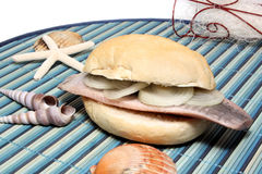Herring bun Royalty Free Stock Photo