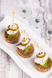 Herring canape Royalty Free Stock Image