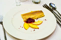 Herring with cranberry Royalty Free Stock Photo