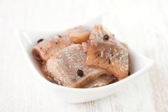 Herring in dish Royalty Free Stock Photography