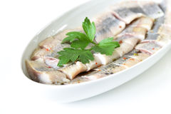 Herring fillet pieces Royalty Free Stock Photo