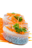 Herring fillets Stock Photos