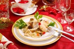 Herring fillets for christmas stock photo