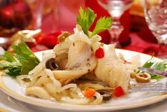 Herring fillets for christmas royalty free stock photos
