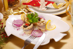 Herring fillets for christmas Stock Image